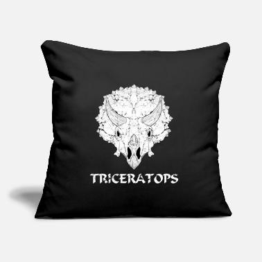 "Fossil Triceratops Dinosaur fossil - Throw Pillow Cover 18"" x 18"""