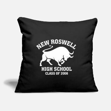 "Guerin New Roswell High School Class of 2008 Dark BG - Throw Pillow Cover 18"" x 18"""