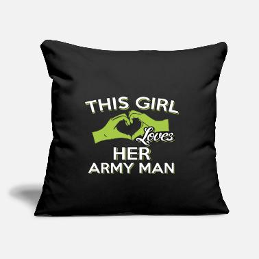"Army Man THIS GIRLS LOVES HER ARMY MAN - Throw Pillow Cover 18"" x 18"""