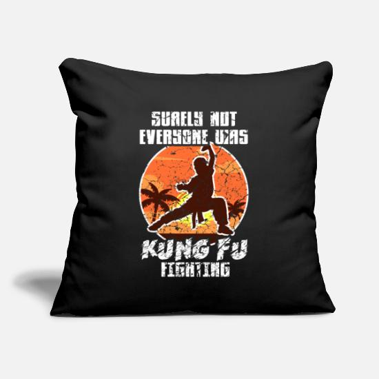"Shaolin Pillow Cases - Kung Fu Fighting Asia Shaolin Retro - Throw Pillow Cover 18"" x 18"" black"