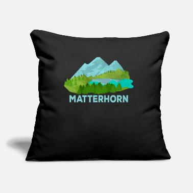"Zermatt Matterhorn Zermatt Switzerland Swiss Mountain - Throw Pillow Cover 18"" x 18"""