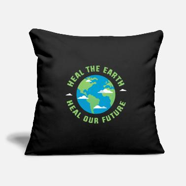"Healing Heal the earth Heal our future - Throw Pillow Cover 18"" x 18"""