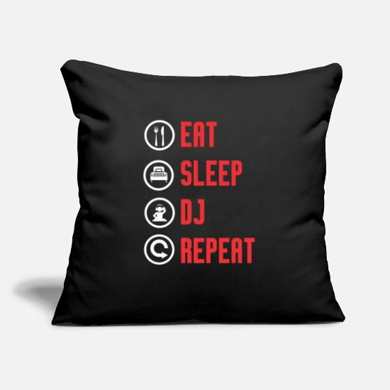 "Trance Pillow Cases - DJ DJ Discjockey Discjockey Techno Party Gift - Throw Pillow Cover 18"" x 18"" black"