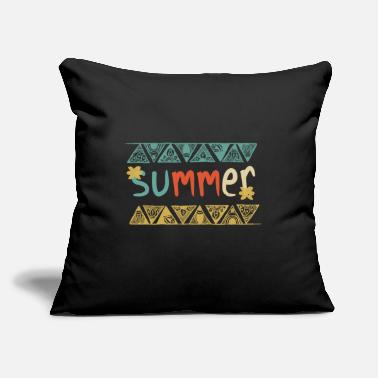 "Festival Summer Vintage - Throw Pillow Cover 18"" x 18"""