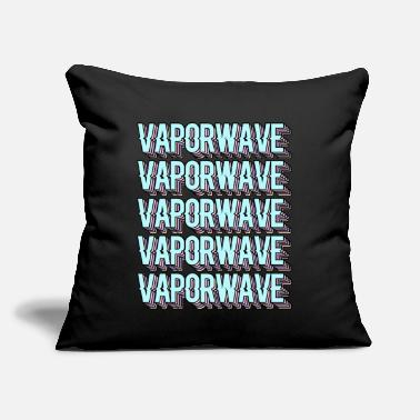 "Vaporwave Aesthetic Pastel Goth Synthwave - Throw Pillow Cover 18"" x 18"""