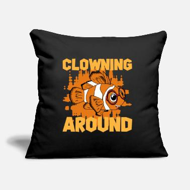 "Kid Clowning Around Clownfish - Throw Pillow Cover 18"" x 18"""