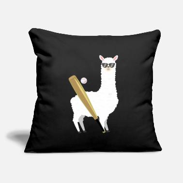 "Trend Animal Cool Alpaca Baseball - Throw Pillow Cover 18"" x 18"""