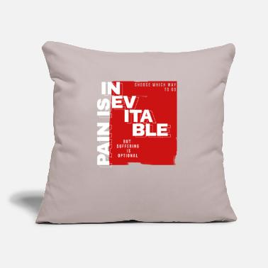 "Pain Pain - Throw Pillow Cover 18"" x 18"""
