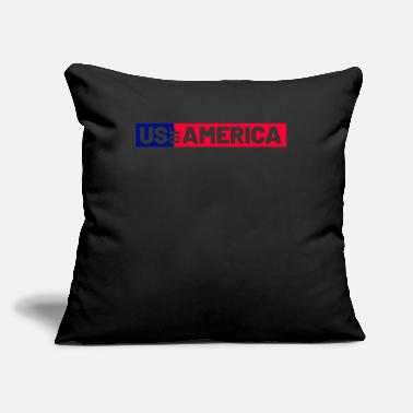 "America America - Throw Pillow Cover 18"" x 18"""