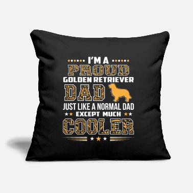 "Just I'm A Golden Retriever Dad Just Like A Normal Dad - Throw Pillow Cover 18"" x 18"""