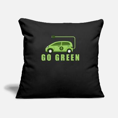 "Energy-conscious Electric car electromobility electricity gift - Throw Pillow Cover 18"" x 18"""