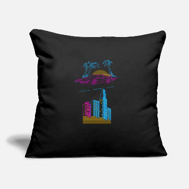 "Retro 80s 80s retro - Throw Pillow Cover 18"" x 18"""