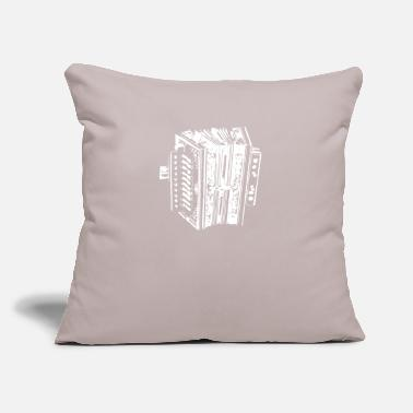 "Instrument Accordion Instrument - Throw Pillow Cover 18"" x 18"""