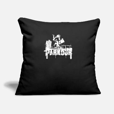 "Parkor Free Climbing - Throw Pillow Cover 18"" x 18"""