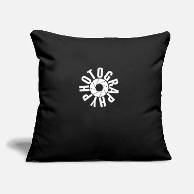 "Humour photography humour logo - Throw Pillow Cover 18"" x 18"""
