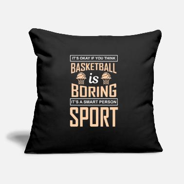 "Soccer Ball IT'S OKAY IF YOU THINK BASKETBALL IS BORING IT'S A - Throw Pillow Cover 18"" x 18"""