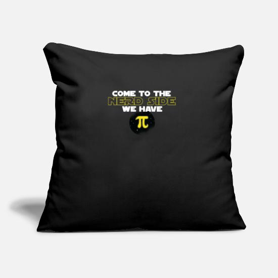 "Pi Day Pillow Cases - Pie Day COME TO THE MATH NERD SIDE - Throw Pillow Cover 18"" x 18"" black"