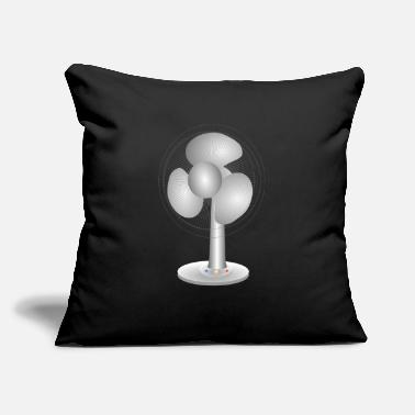 "Electric Fan Electric table fan - Throw Pillow Cover 18"" x 18"""