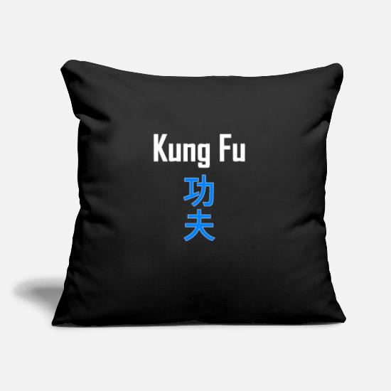 "Martial Arts Pillow Cases - Kung fu - Throw Pillow Cover 18"" x 18"" black"
