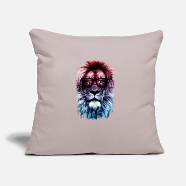 "Hipster Hipster lion - Throw Pillow Cover 18"" x 18"""