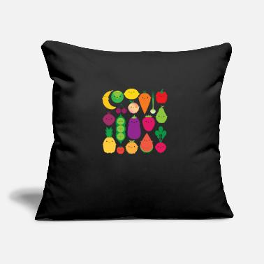 "Fruits And Vegetables fruit vegetables - Throw Pillow Cover 18"" x 18"""