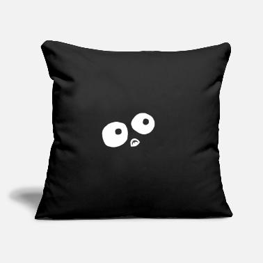 "Monster Eye Monster eyes dark - Throw Pillow Cover 18"" x 18"""