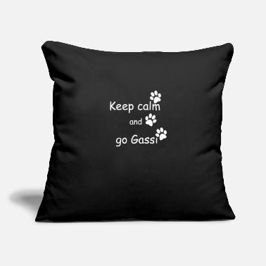 "Go Gassi keep calm and go gassi paws white - Throw Pillow Cover 18"" x 18"""