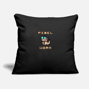 "Pixel Pixel Worm as Pixel Graphic - Throw Pillow Cover 18"" x 18"""