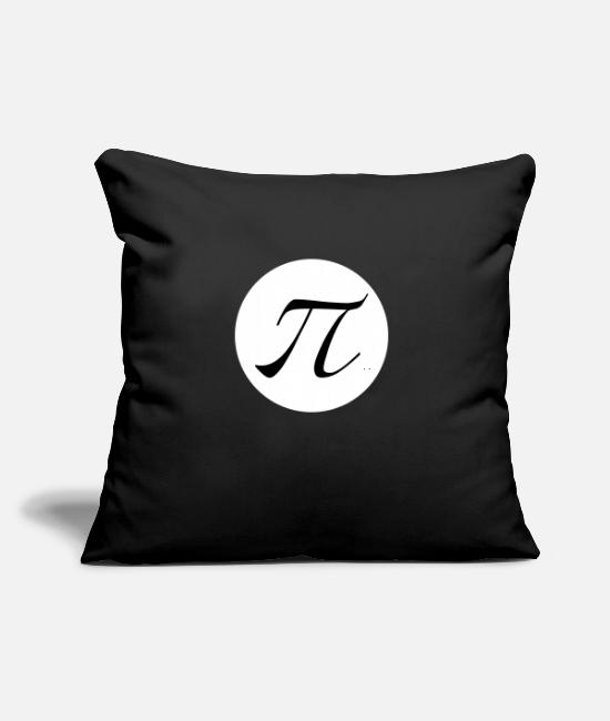 "Graphic Art Pillow Cases - PI - Throw Pillow Cover 18"" x 18"" black"