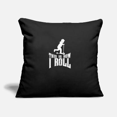 "Scooter Children scooter gift scooter shirt - Throw Pillow Cover 18"" x 18"""