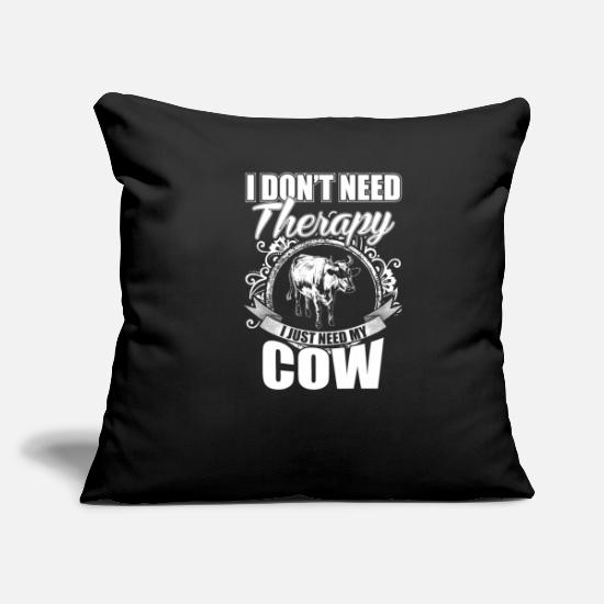 "Cow Skull Pillow Cases - Cow - Throw Pillow Cover 18"" x 18"" black"