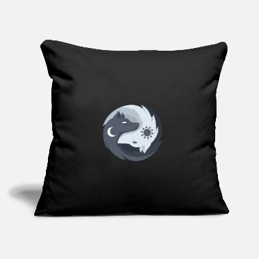 "Taoism Yin Yang Wolfes Taoism Buddhism Spiritual Balance - Throw Pillow Cover 18"" x 18"""