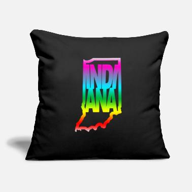 "State Indiana Gay Pride LGBTQ - Throw Pillow Cover 18"" x 18"""