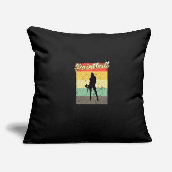"Paintball Pillow Cases - Paintball - Throw Pillow Cover 18"" x 18"" black"