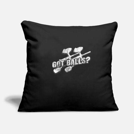 "Gift Idea Pillow Cases - Paintball - Throw Pillow Cover 18"" x 18"" black"