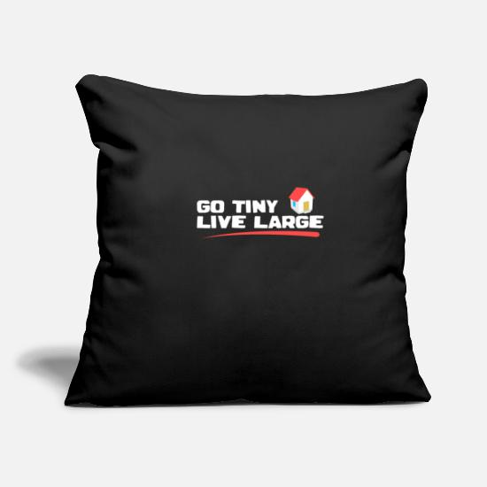 "Christmas Pillow Cases - Low houses - Throw Pillow Cover 18"" x 18"" black"