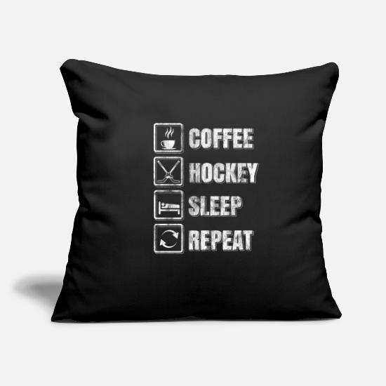 "Hockey Pillow Cases - Hockey - Throw Pillow Cover 18"" x 18"" black"
