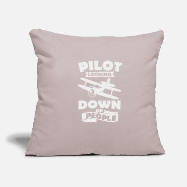 "Recreational recreational pilot - Throw Pillow Cover 18"" x 18"""