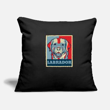 Obama Labrador Retriever Dog Retro Vintage Gift Present - Throw Pillow Cover