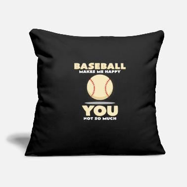 "Baseball Bat baseball bat - Throw Pillow Cover 18"" x 18"""