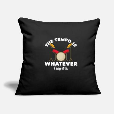 "Big Band Drummer determines the tempo band music group - Throw Pillow Cover 18"" x 18"""