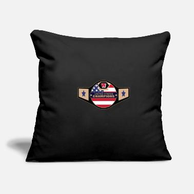 "Ring United States Championship Boxing USA MMA Gift - Throw Pillow Cover 18"" x 18"""