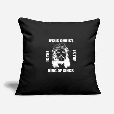 "Religion Jesus Is King Disciple Or Believer Gift - Throw Pillow Cover 18"" x 18"""