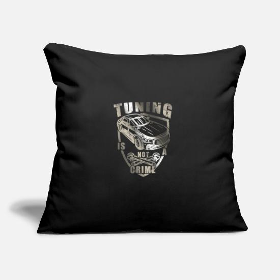"Tuning Pillow Cases - Tuning - Throw Pillow Cover 18"" x 18"" black"