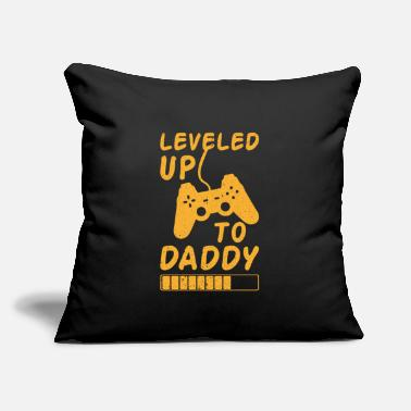 "Up Leveled up to daddy gift fathers day saying - Throw Pillow Cover 18"" x 18"""