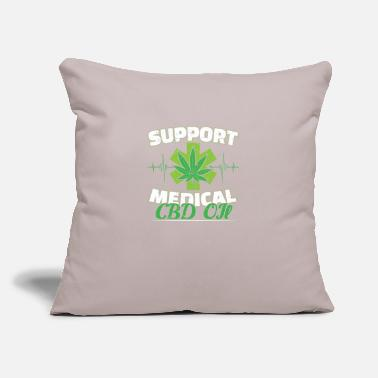 "Oil Support Medical CBD OIl Marijuana Distressed - Throw Pillow Cover 18"" x 18"""