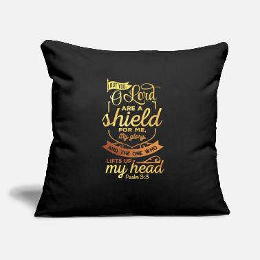 "Not Perfect The Lord Is A Shield Christian Religious Blessed - Throw Pillow Cover 18"" x 18"""