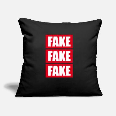 "Fake Fake Fake Fake - Throw Pillow Cover 18"" x 18"""