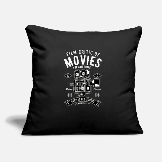 "Goodies Pillow Cases - Movie Critic Gift - Film Critic Of Movies - Throw Pillow Cover 18"" x 18"" black"
