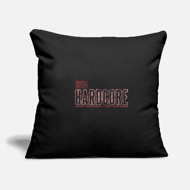 "100% Hardstyle 100% Hardcore - Throw Pillow Cover 18"" x 18"""
